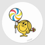 Pequeña Srta. Sunshine Lollipop Pegatina Redonda