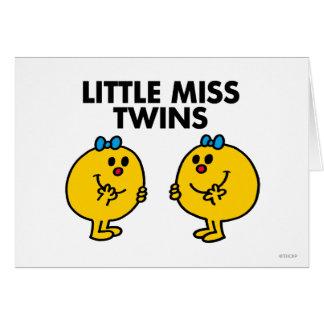 Pequeña Srta. Twins el | dos mucha diversión Tarjeta De Felicitación
