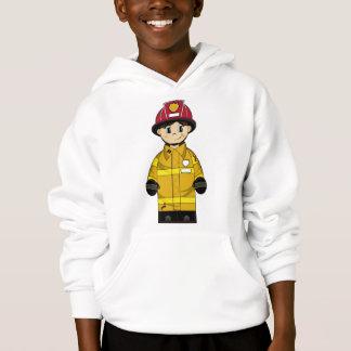 Pequeña sudadera con capucha linda del bombero