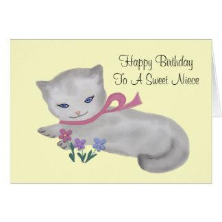 Pequeña tarjeta de cumpleaños de la sobrina del