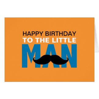 Pequeña tarjeta de cumpleaños del hombre