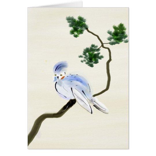 Pequeña tarjeta de felicitación de Sumi-e del