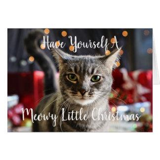 Pequeña tarjeta de felicitación del navidad de