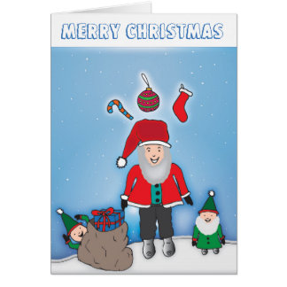 Pequeña tarjeta de los ayudantes de Santa