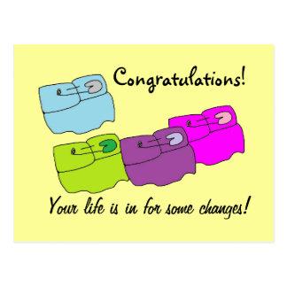 Pequeña tarjeta de los cambios de la vida tarjetas postales