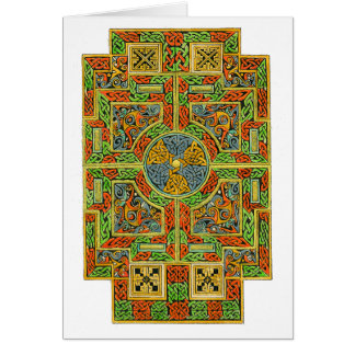 Pequeña tarjeta del Celtic de la cruz de Tau