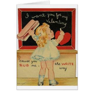 Pequeña tarjeta del el día de San Valentín del