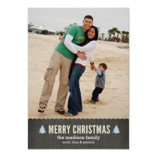 Pequeña tarjeta feliz de la foto del día de fiesta invitación 12,7 x 17,8 cm