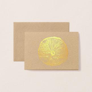 Pequeña tarjeta - impresión de Lino de la seta en