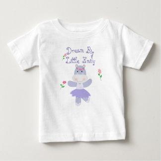 Pequeña una bailarina púrpura grande ideal del camiseta de bebé