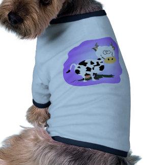 Pequeña vaca de Cutie Camiseta Con Mangas Para Perro