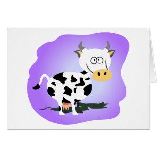 Pequeña vaca de Cutie Tarjeta De Felicitación