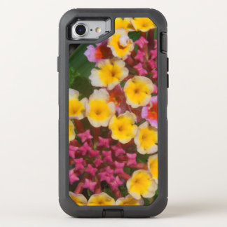 Pequeñas flores tropicales amarillas con los funda OtterBox defender para iPhone 7