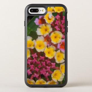 Pequeñas flores tropicales amarillas con los funda OtterBox symmetry para iPhone 7 plus