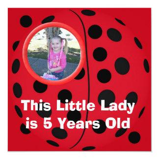 Pequeñas invitaciones de la fiesta de cumpleaños invitación 13,3 cm x 13,3cm