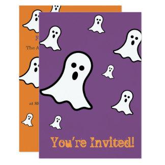 Pequeñas invitaciones del fiesta de Halloween de