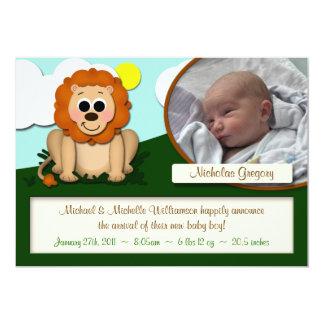 Pequeñas invitaciones del nacimiento del muchacho invitación 12,7 x 17,8 cm