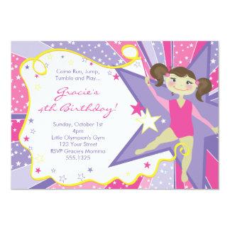 Pequeñas invitaciones triguenas del gimnasta invitación 12,7 x 17,8 cm