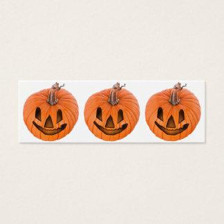Pequeñas Jack-o-Linternas lindas de Halloween Tarjeta De Visita Pequeña