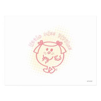 Pequeñas letras rosadas de Srta. Giggles el | Postal