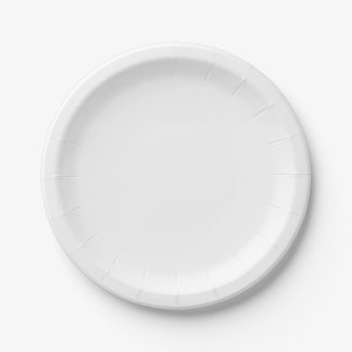 Pequeñas placas de papel plato de papel