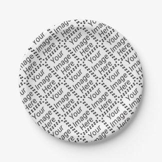 Pequeñas placas de papel (tejadas) plato de papel