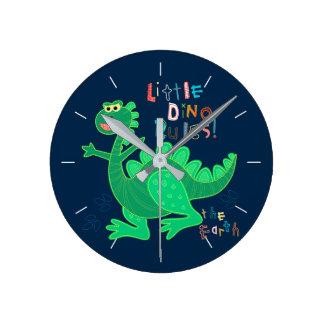 Pequeñas reglas de Dino Reloj Redondo Mediano