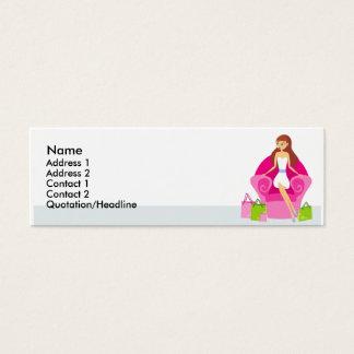 Pequeñas tarjetas del perfil del comprador