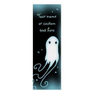 Pequeñas tarjetas lindas del perfil del fantasma plantilla de tarjeta de visita
