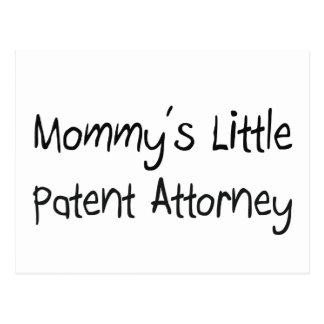 Pequeño abogado de patentes de Mommys Tarjetas Postales