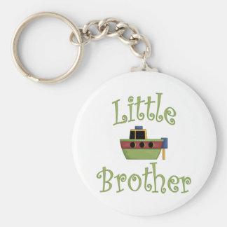 Pequeño barco lindo de Brother Llavero Redondo Tipo Chapa