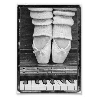 Pequeño blanco y negro del dúo del ballet del fotografias