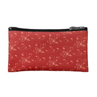Pequeño bolso cosmético de los lirios castaños