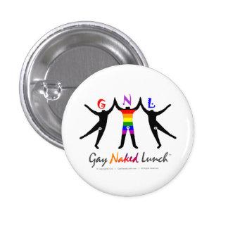 Pequeño botón redondo oficial de GayNakedLunch