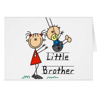 Pequeño Brother con las camisetas de la hermana Tarjeta De Felicitación