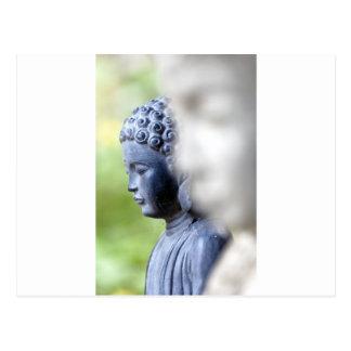Pequeño Buda azul Postal