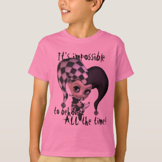 Bebé asiático con rayas camiseta