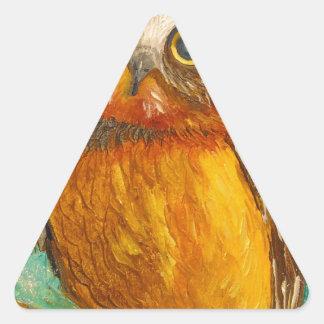 Pequeño búho pegatina triangular