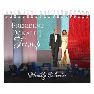 Pequeño calendario 2018 de presidente Donald Trump