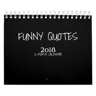 Pequeño calendario de las citas 2018 divertidos