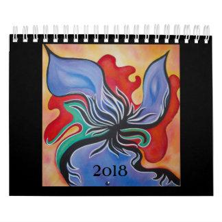 Pequeño calendario del arte abstracto 2018