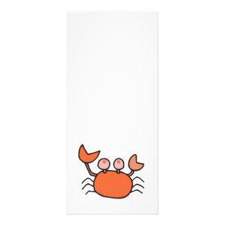 pequeño cangrejo lindo diseño de tarjeta publicitaria