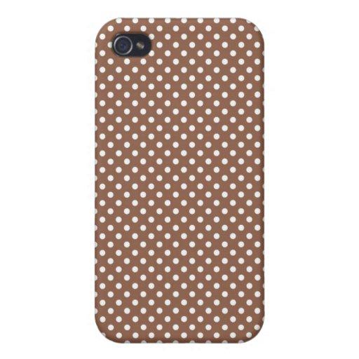 Pequeño caso pelirrojo de Iphone 4 del lunar de Br iPhone 4 Carcasa