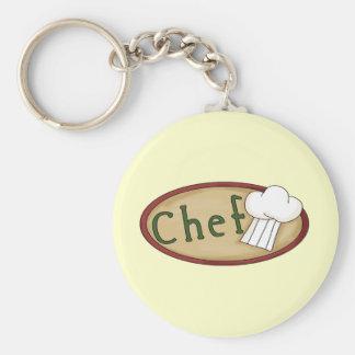 Pequeño cocinero llaveros personalizados