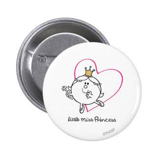 Pequeño corazón rosado simple de la Srta. princesa Chapa Redonda 5 Cm