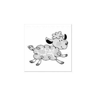 pequeño cordero lindo sello de caucho