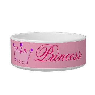 Pequeño cuenco del mascota de la princesa comedero para mascota