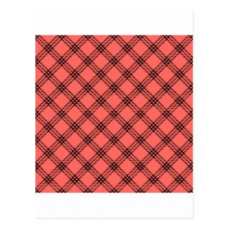 Pequeño diamante de cuatro bandas - negro en rojo  postal