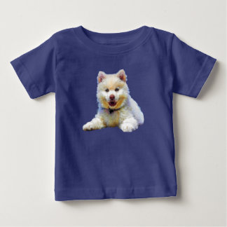 Pequeño dibujo adorable bonito del perrito camiseta de bebé