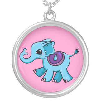 Pequeño elefante colgante redondo